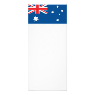 Australian national flag personalized rack card