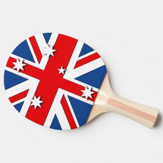 Australian National Flag Ping-Pong Paddle