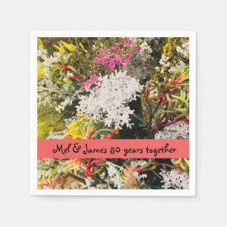 Australian Native Wildflowers Paper Napkin