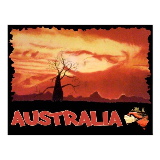 Australian Orange Sunset Postcard