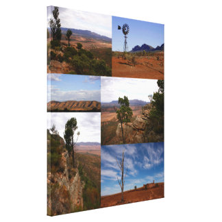 Australian Outback Collage Canvas Print