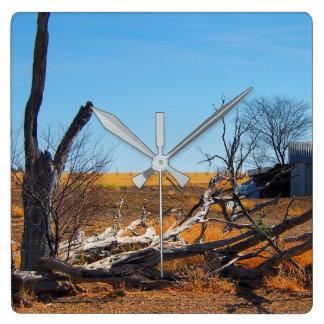 Australian outback landscape wall clock