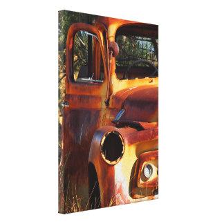 Australian outback truck canvas print