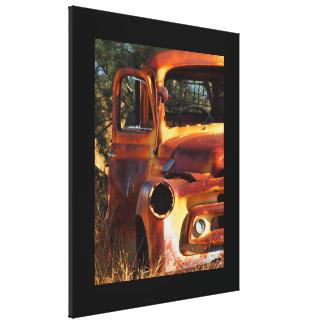 Australian outback vintage truck canvas print