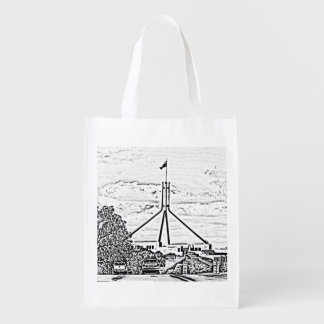 Australian Parliament - Canberra Grocery Bags