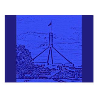 Australian Parliament - Canberra Postcard