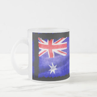 Australian Patriotic Flag of Australia for Aussies Frosted Glass Mug