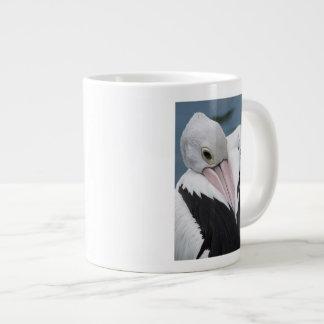 Australian pelican close up large coffee mug