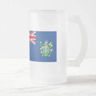 Australian Pitcairn Islands Flag Frosted Glass Beer Mug