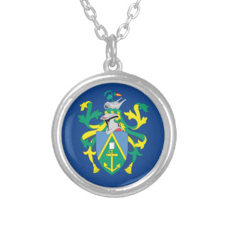 Australian Pitcairn Islands Flag Silver Plated Necklace