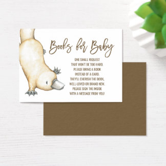 Australian Platypus Neutral Books for Baby Business Card