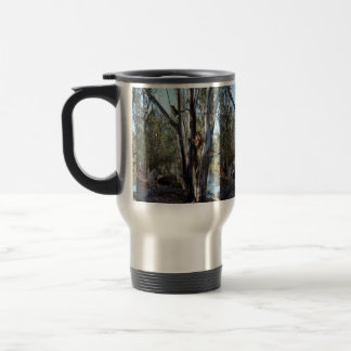 Australian Quokka Family In The Outback, Travel Mug