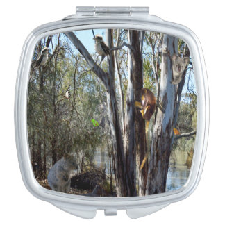 Australian Quokka With Aussie Wildlife, Vanity Mirrors