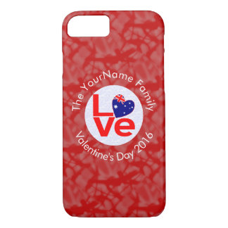 Australian Red LOVE Flag White Red iPhone 7 Case