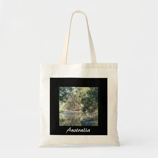 Australian reflections tote bag