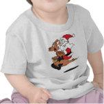 Australian Santa riding a Christmas kangaroo Tee Shirt