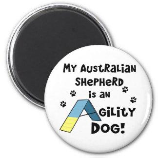 Australian Shepherd Agility Dog Magnet