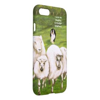 Australian Shepherd and His Sheep-Matte iPhone 7 Case