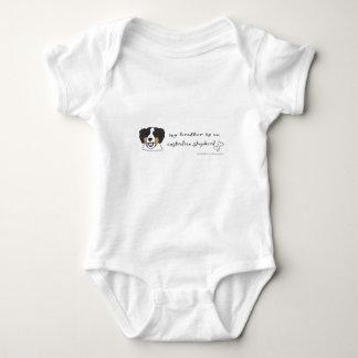 australian shepherd baby bodysuit