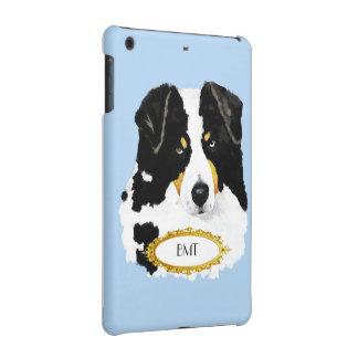 Australian Shepherd, Black Tri Monogramed iPad Mini Cases
