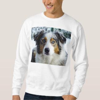 australian shepherd blue merle 3 sweatshirt