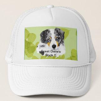 Australian Shepherd - Blue Merle Aussies Rock!! Trucker Hat