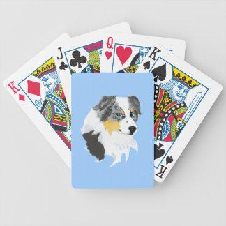 Australian Shepherd Blue Merle Bicycle Playing Cards