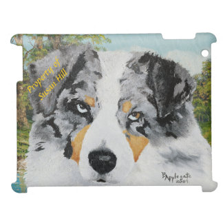 Australian Shepherd, Blue Merle Dog Portrait Case For The iPad 2 3 4
