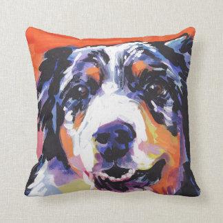 Australian shepherd Bright Colorful Pop Dog Art Throw Pillow