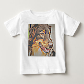 Australian Shepherd Cartoon Baby T-Shirt