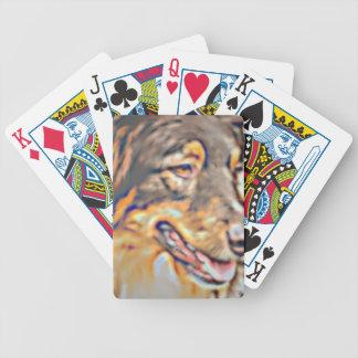 Australian Shepherd Cartoon Bicycle Playing Cards