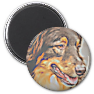 Australian Shepherd Cartoon Magnet