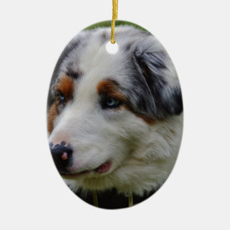 Australian Shepherd Ceramic Ornament