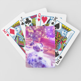 Australian Shepherd Christmas Bicycle Playing Cards