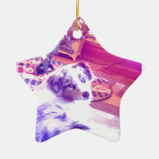 Australian Shepherd Christmas Ceramic Ornament