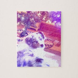 Australian Shepherd Christmas Jigsaw Puzzle
