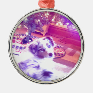 Australian Shepherd Christmas Metal Ornament