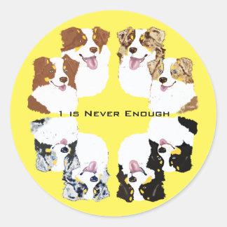 Australian Shepherd Collage Sticker