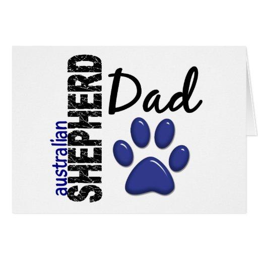 Australian Shepherd Dad 2 Greeting Card