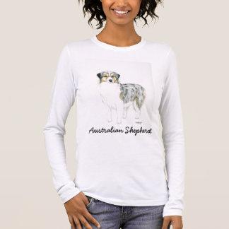 Australian Shepherd Dog Art Lond sleeved Shirt
