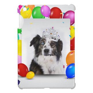 Australian Shepherd Dog Balloons Crown Birthday Cover For The iPad Mini