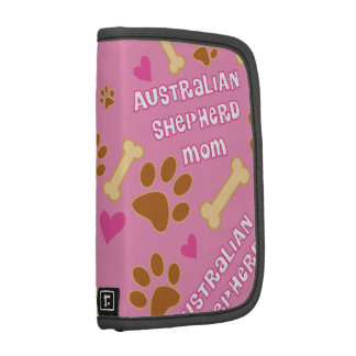 Australian Shepherd Dog Breed Mom Gift Idea Folio Planner