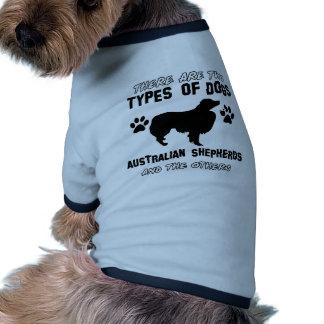 australian shepherd dog designs dog t-shirt
