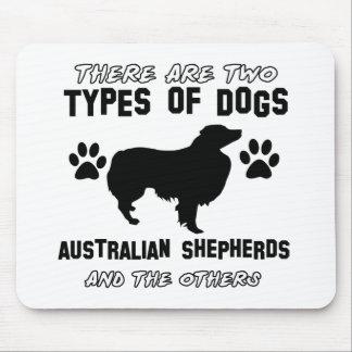 australian shepherd dog designs mouse pad