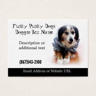Australian Shepherd Dog in Hoodie Card