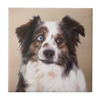 Australian Shepherd Dog Oil Painting Art Ceramic Tiles