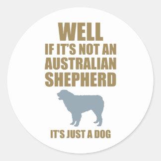 Australian Shepherd Dog Round Stickers