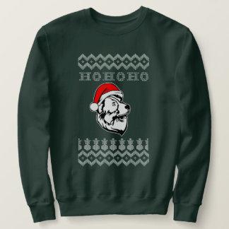 Australian Shepherd Dog Ugly Christmas Ho Ho Ho Sweatshirt