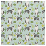 Australian Shepherd fabric cactus print