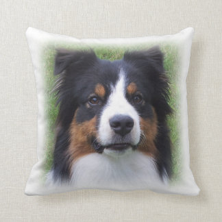 "Australian Shepherd ""HALO"" -  inside throw Pillow"